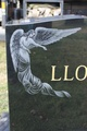 Etched headstone